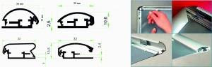 Алюминиевый багетный Клик-профиль